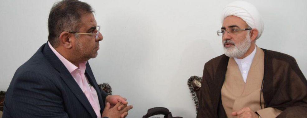 مدیرعامل منطقه ویژه اقتصادی لامرد با امام جمعه لامرد دیدار کرد