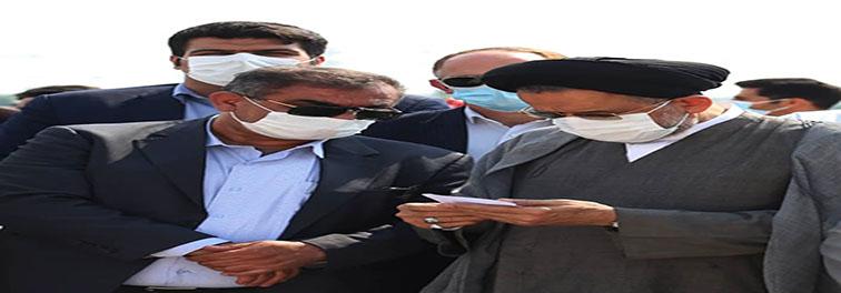 عملیات اجرایی مسجد خیرساز منطقه ویژه لامرد با حضور محترم وزیر اطلاعات